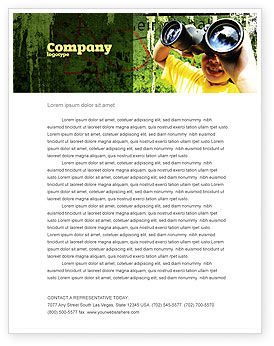 Scout Letterhead Template, Layout for Microsoft Word, Adobe