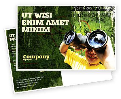 Scout Postcard Template, 04310, Education & Training — PoweredTemplate.com