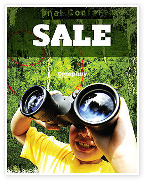 Scout Sale Poster Template, 04310, Education & Training — PoweredTemplate.com