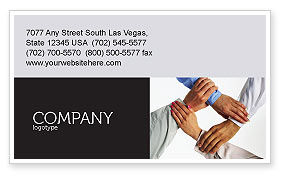 Mutual Responsibility Business Card Template, 04311, Consulting — PoweredTemplate.com