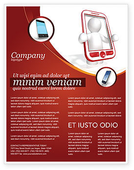 Telecommunication: Templat Flyer Telepon Nirkabel #04312