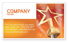 Holiday/Special Occasion: Star Of The Best Business Card Template #04316