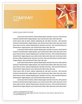 Holiday/Special Occasion: Star Of The Best Letterhead Template #04316