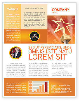 Holiday/Special Occasion: Star Of The Best Newsletter Template #04316