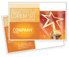 Holiday/Special Occasion: Star Of The Best Postcard Template #04316