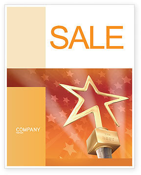 Star Of The Best Sale Poster Template, 04316, Holiday/Special Occasion — PoweredTemplate.com