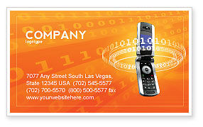 Mobile Service Provider Business Card Template, 04320, Telecommunication — PoweredTemplate.com