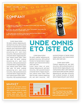 Telecommunication: Mobile Service Provider Newsletter Template #04320