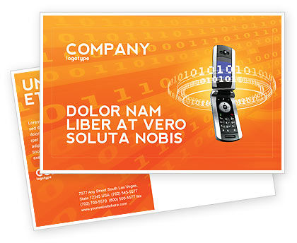 Telecommunication: Mobile Service Provider Postcard Template #04320