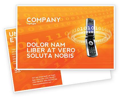 Telecommunication: Modèle de Carte postale de fournisseur de services mobiles #04320