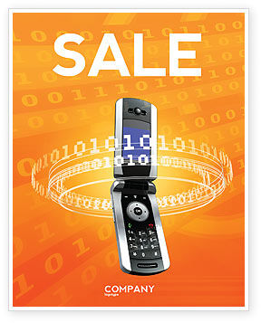 Telecommunication: Mobile Service Provider Sale Poster Template #04320
