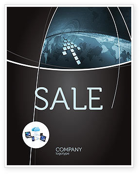 Interactivity Sale Poster Template, 04321, Global — PoweredTemplate.com