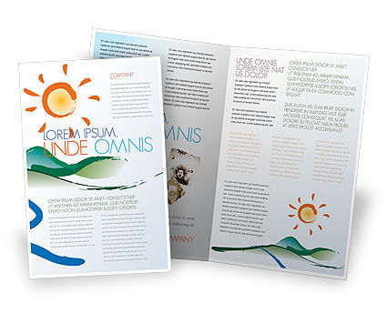 Child's Painting Brochure Template, 04323, Education & Training — PoweredTemplate.com