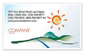 Child's Painting Business Card Template, 04323, Education & Training — PoweredTemplate.com