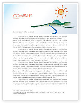 Child's Painting Letterhead Template