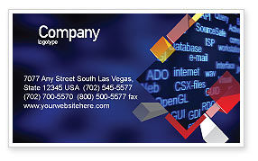 Computer Terms Business Card Template, 04329, Technology, Science & Computers — PoweredTemplate.com