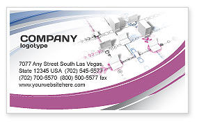 Telecommunication: Multicomputer System Business Card Template #04331