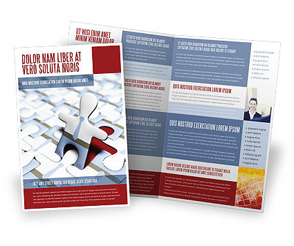 Business: Jigsaw Man Brochure Template #04332