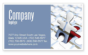 Business: Jigsaw Man Business Card Template #04332