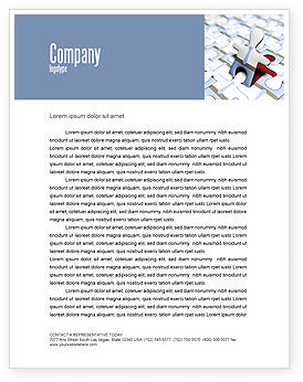 Jigsaw Man Letterhead Template, 04332, Business — PoweredTemplate.com