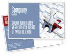Business: Templat Kartu Pos Pria Jigsaw #04332