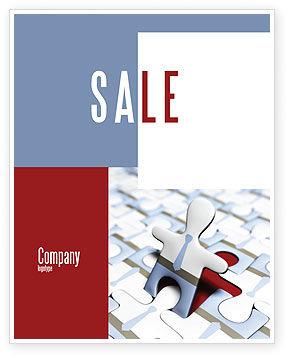 Business: ジグソーパズル - ポスターテンプレート #04332