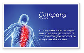 Medical: Osteoporosis Business Card Template #04334