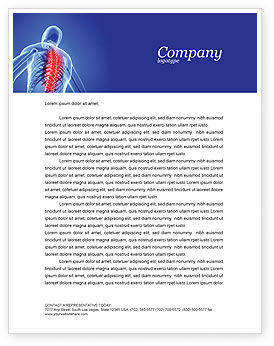 Osteoporosis Letterhead Template, 04334, Medical — PoweredTemplate.com