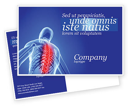 Medical: Osteoporosis Postcard Template #04334