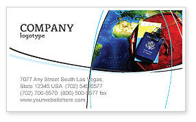 Travel Essentials Business Card Template, 04336, Careers/Industry — PoweredTemplate.com