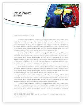 Travel Essentials Letterhead Template, 04336, Careers/Industry — PoweredTemplate.com