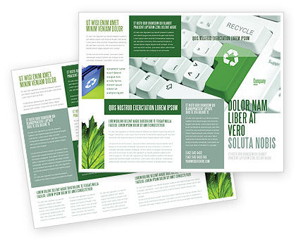 Recycling technology brochure template design and layout for Technology brochure templates