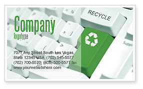 Nature & Environment: Recycling Technology Business Card Template #04339
