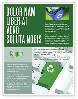 recycling technology flyer template background in microsoft word