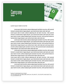 Nature & Environment: Recycling Technology Letterhead Template #04339