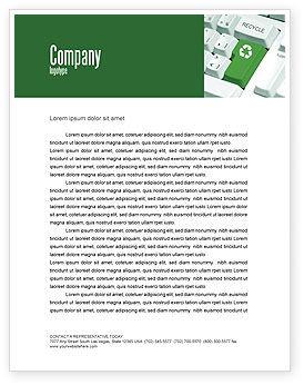 Recycling Technology Letterhead Template, 04339, Nature & Environment — PoweredTemplate.com