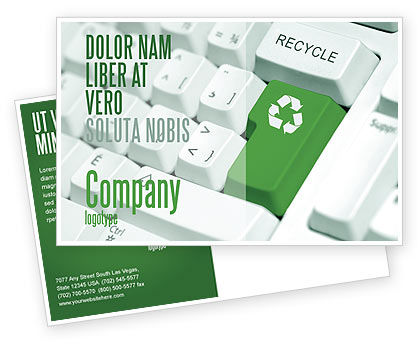 Nature & Environment: Recycling Technology Postcard Template #04339
