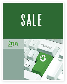 Nature & Environment: Recyclingtechnik Plakat Vorlage #04339