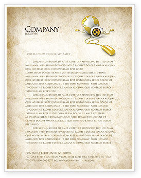 Telecommunication: World Connection Letterhead Template #04340