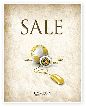World Connection Sale Poster Template, 04340, Telecommunication — PoweredTemplate.com