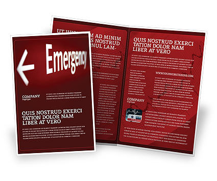 Emergency Sign Brochure Template, 04341, Business Concepts — PoweredTemplate.com