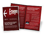 Business Concepts: Emergency Sign Brochure Template #04341