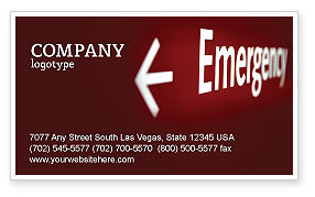 Business Concepts: Emergency Sign Business Card Template #04341