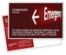 Business Concepts: Emergency Sign Postcard Template #04341
