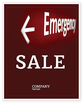 Business Concepts: Emergency Sign Sale Poster Template #04341