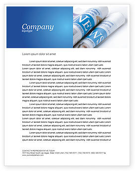 Careers/Industry: New Press Letterhead Template #04346