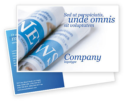 Careers/Industry: New Press Postcard Template #04346