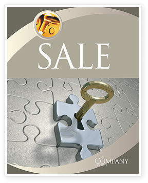 Business Concepts: Key to Everything Sale Poster Template #04347