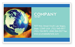 Troubled World Business Card Template, 04349, Business — PoweredTemplate.com