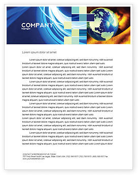 Business: Troubled World Letterhead Template #04349